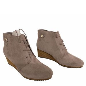 Dr. Scholl's Brown Taupe Conquer Ankle Booties 8